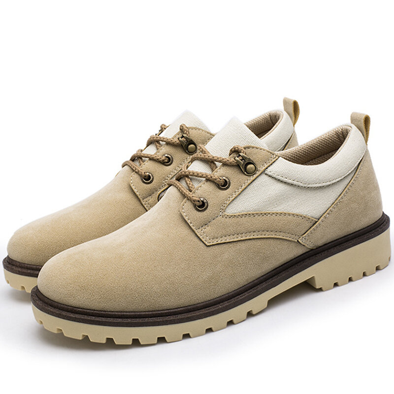 Men British Style Synthetic Suede Non Slip Soft Casual Shoes