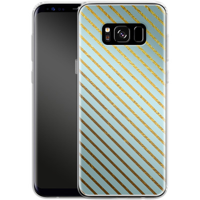 Samsung Galaxy S8 Silikon Handyhuelle - Gold Foil Stripe von Khristian Howell
