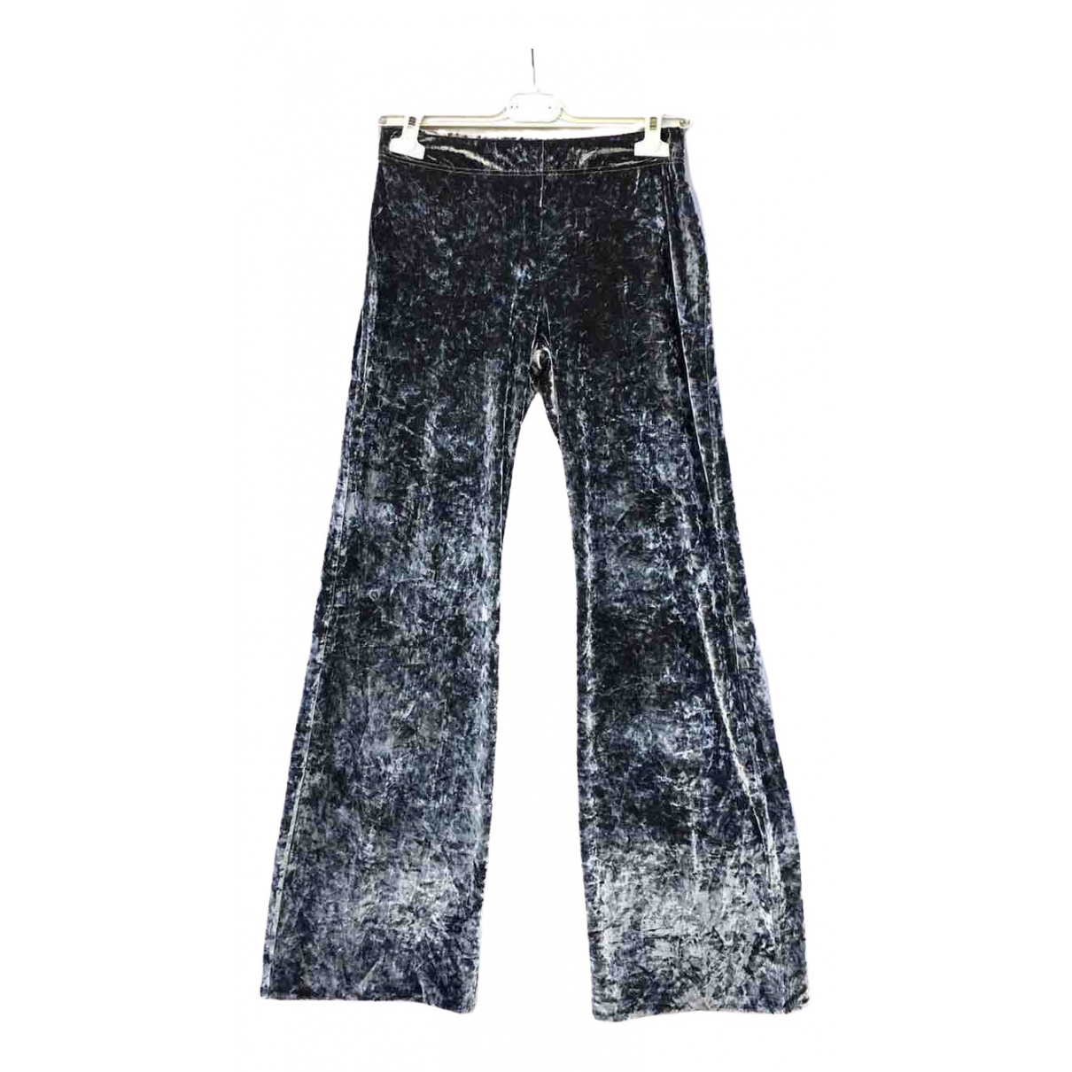 Mango \N Grey Velvet Trousers for Women S International