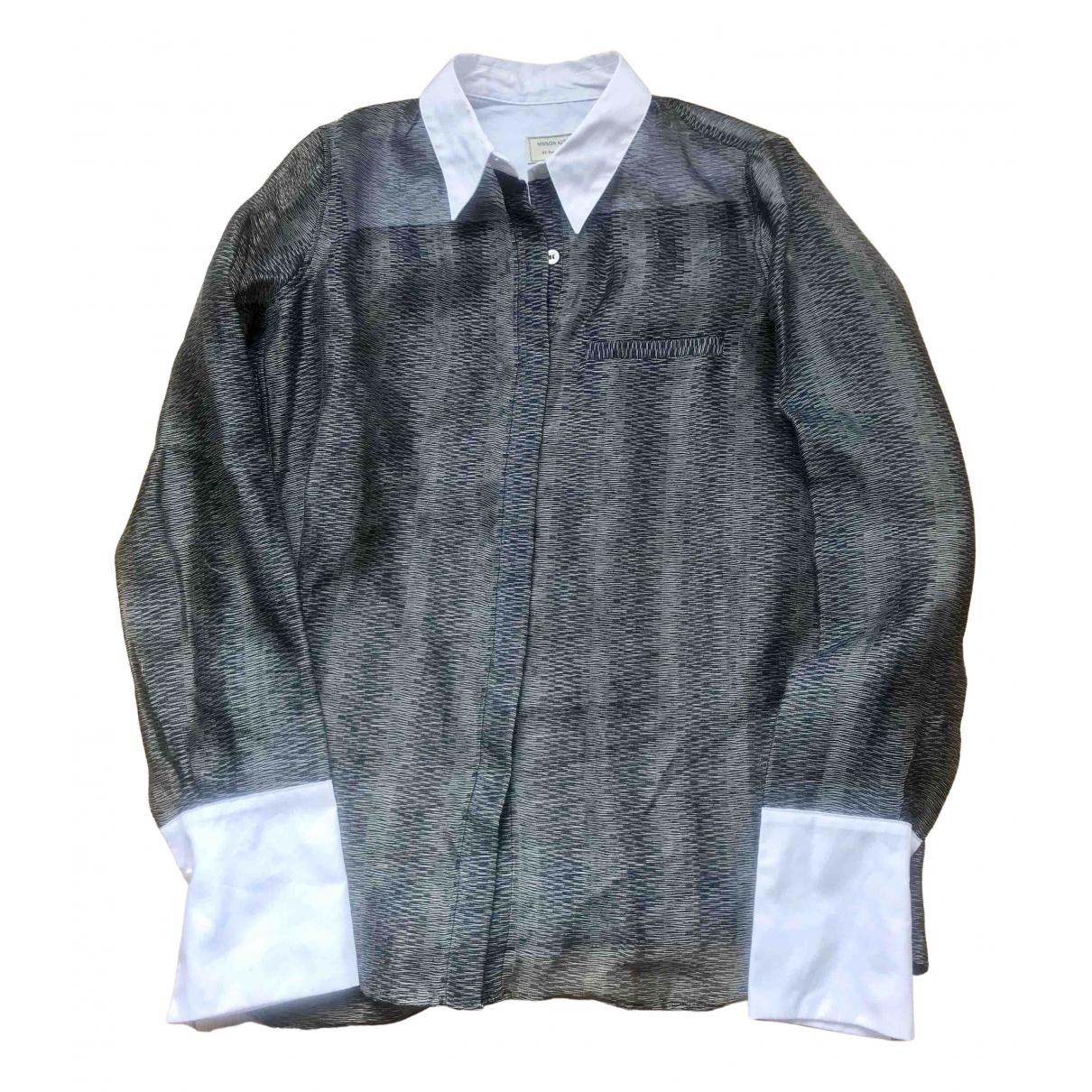 Maison Kitsune - Top   pour femme en coton - gris