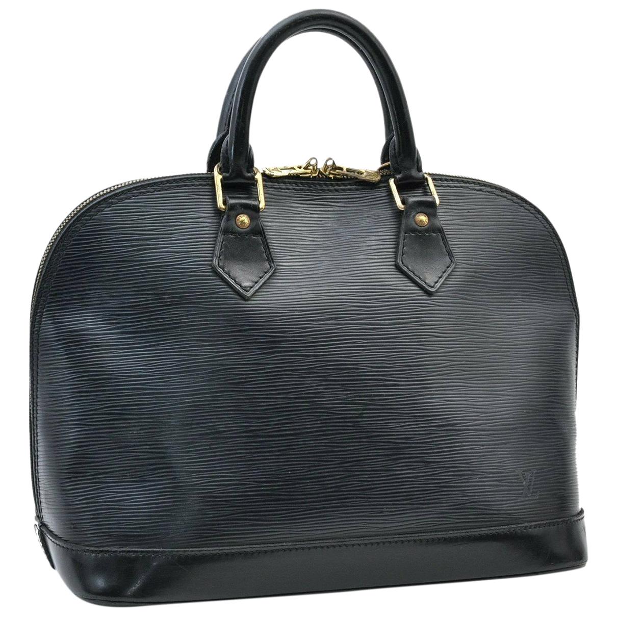 Louis Vuitton Alma Handtasche in  Schwarz Leder