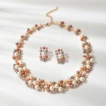 Collar perla para mujer -multicolor