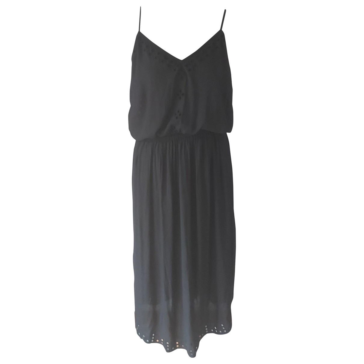 Maison Scotch \N Kleid in  Schwarz Polyester