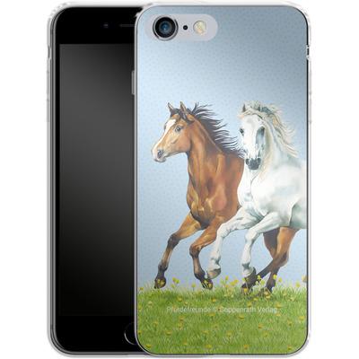 Apple iPhone 6 Plus Silikon Handyhuelle - Pferdefreunde Ausritt von Pferdefreunde