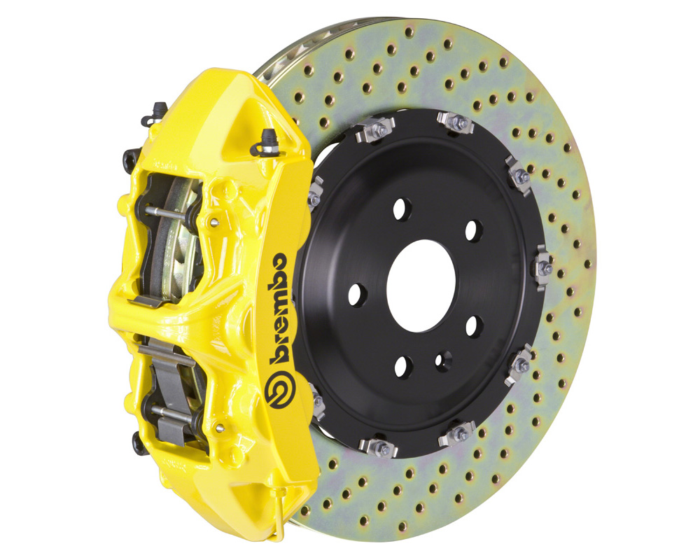 Brembo GT 380x34 2-Piece 6 Piston Yellow Drilled Front Big Brake Kit