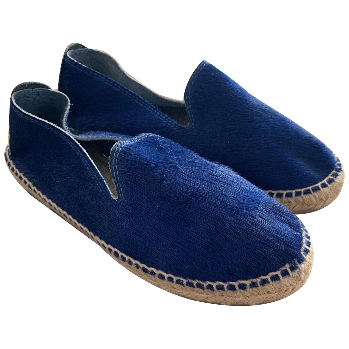 Manebi \N Ballerinas in  Blau Leder