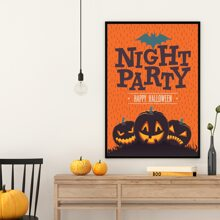 Halloween Pumpkin Print Wall Painting Without Frame