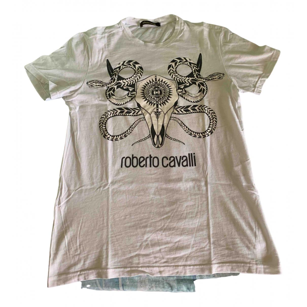 Roberto Cavalli \N White Cotton T-shirts for Men S International