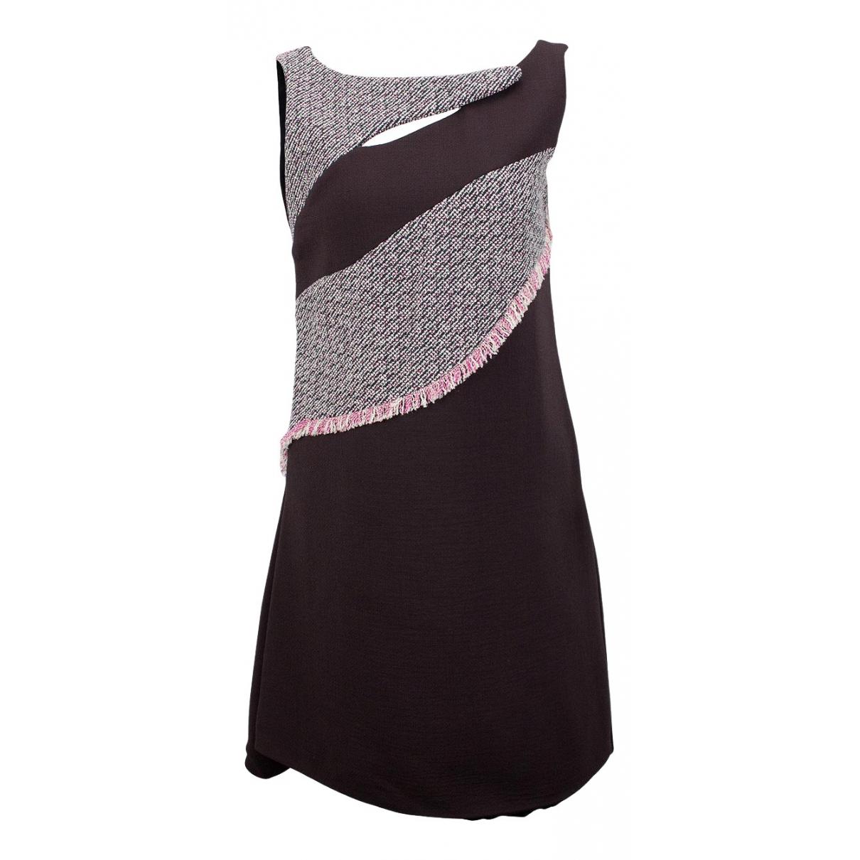 Christian Dior \N Kleid in  Braun Wolle