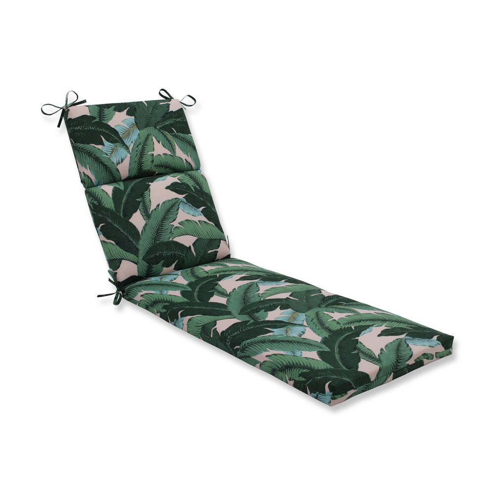 Pillow Perfect Outdoor / Indoor Swaying Palms Capri Blue Chaise Lounge Cushion - 72.5x21x3 (72.5x21x3 - Green)