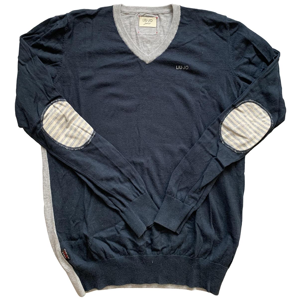 Liu.jo - Pull   pour enfant en coton - bleu