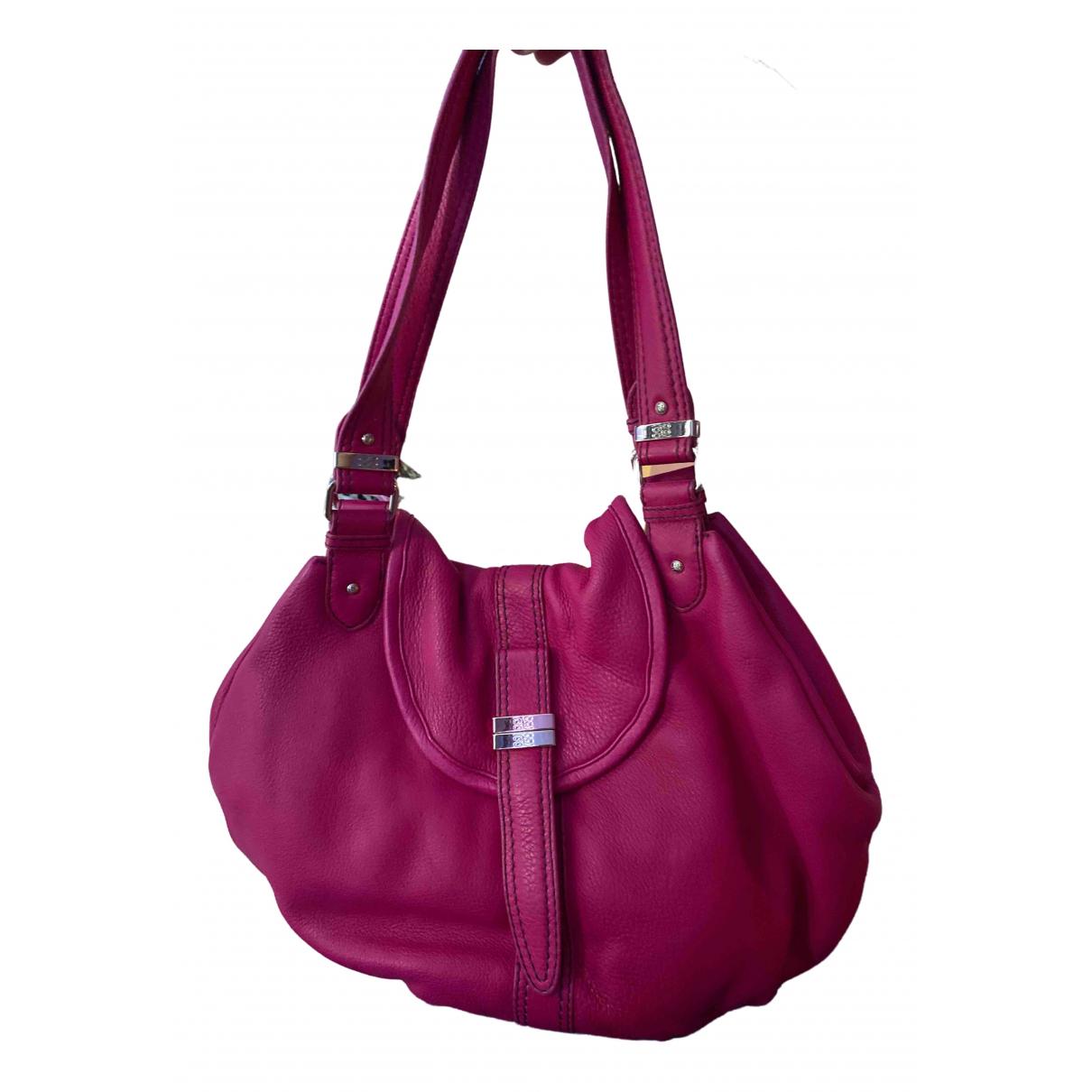 Lancel \N Handtasche in  Rosa Leder