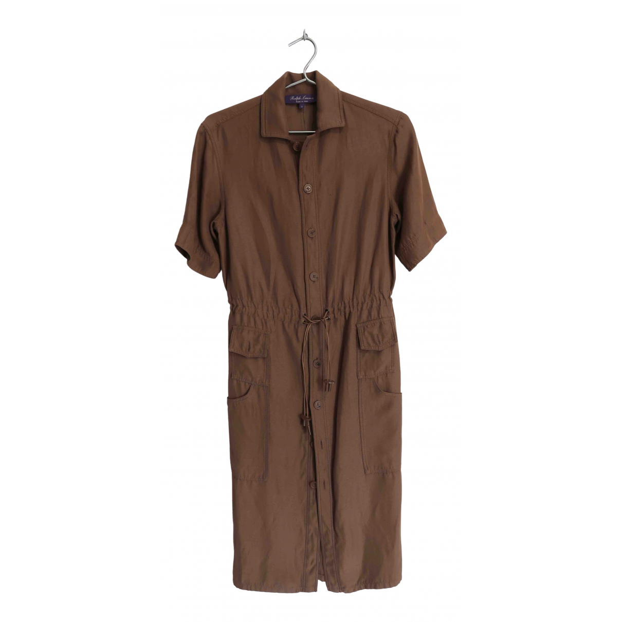 Ralph Lauren Purple Label \N Kleid in  Braun Leinen
