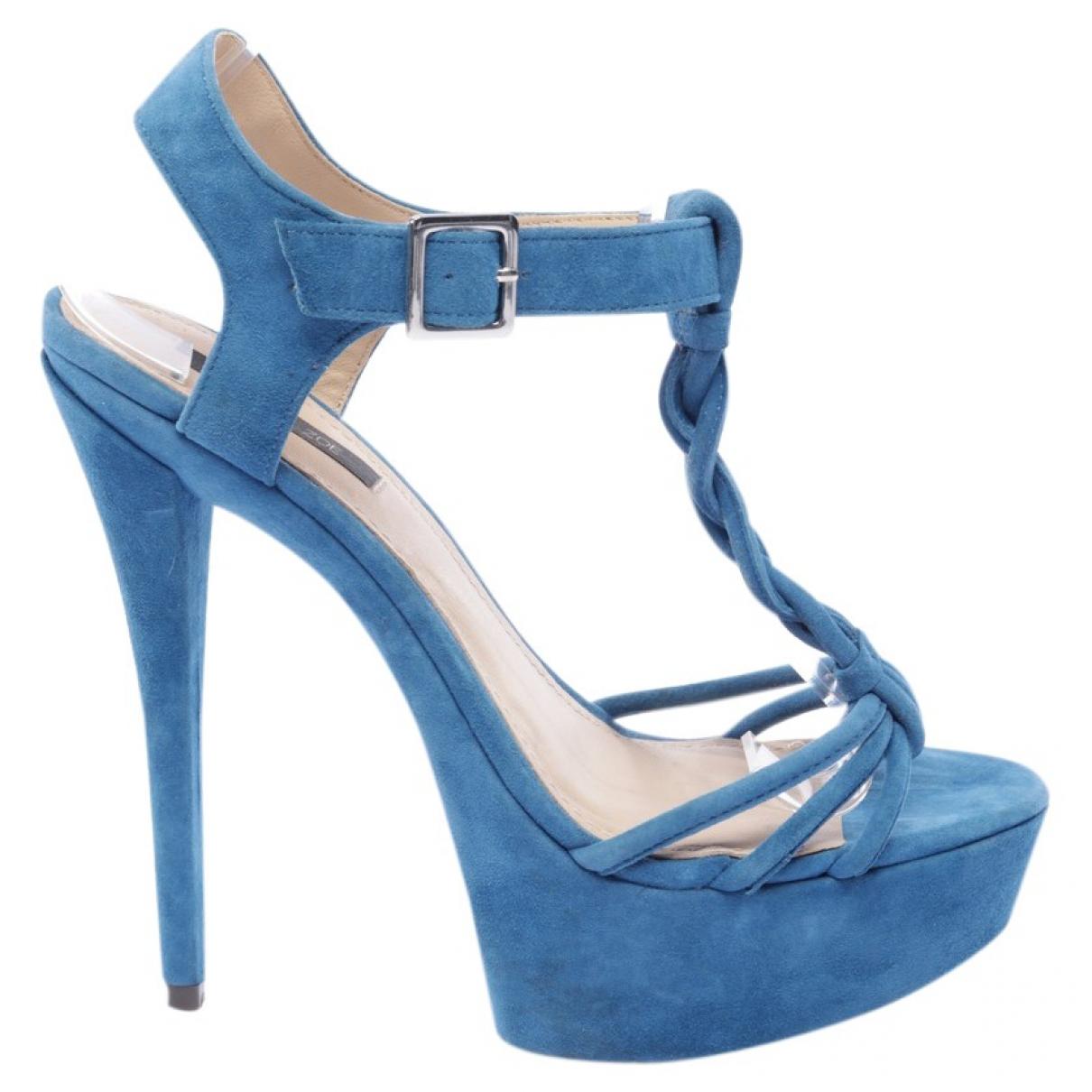 Rachel Zoe \N Sandalen in  Blau Leder