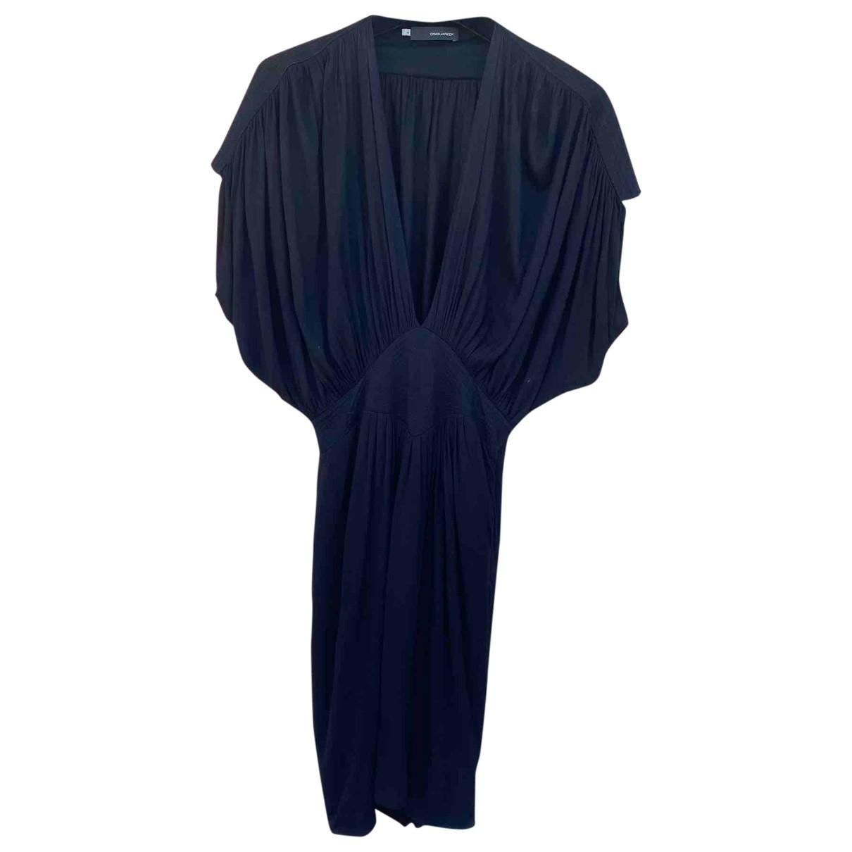 Dsquared2 \N Kleid in  Schwarz Viskose