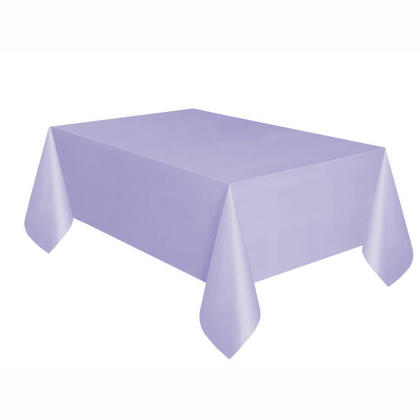 Party Plastic Table Cover Rectangular, Lavender Solid 54