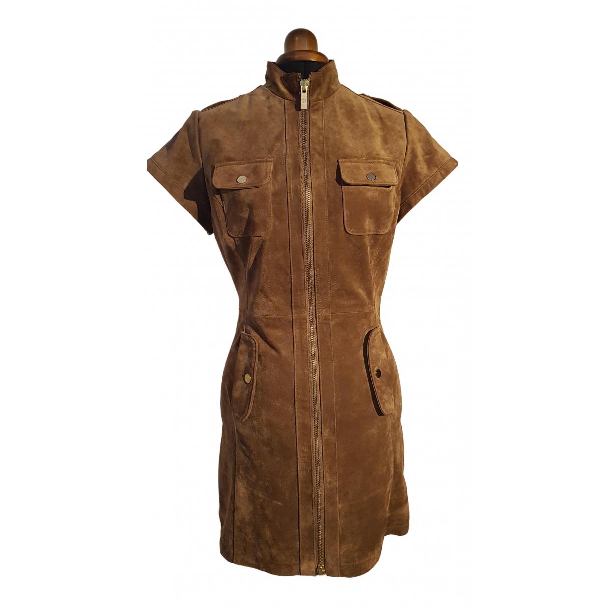 Goosecraft \N Kleid in  Braun Veloursleder