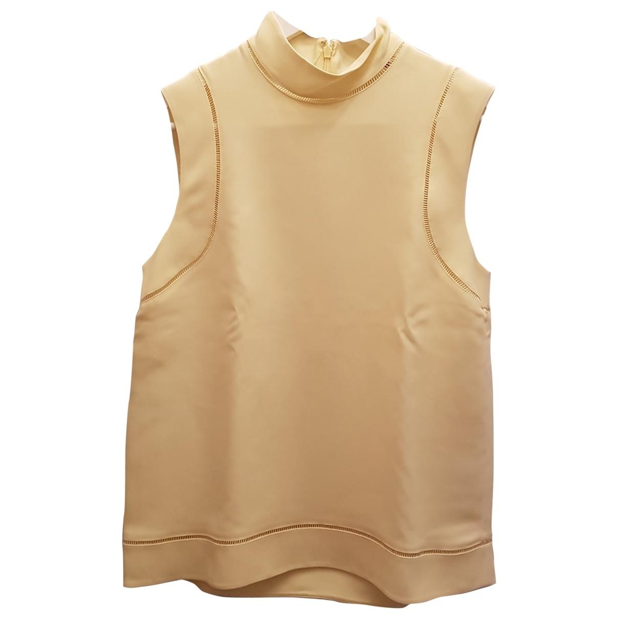 Gucci \N Yellow Silk  top for Women 42 IT