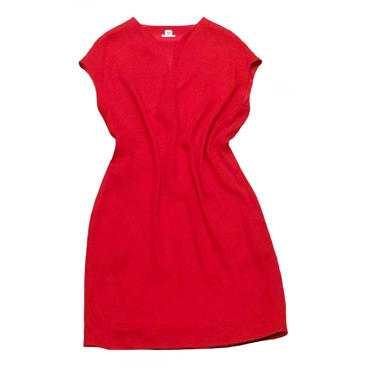 Hermes \N Kleid in  Rot Seide
