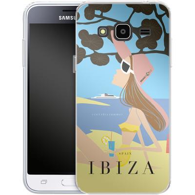 Samsung Galaxy J3 (2016) Silikon Handyhuelle - IBIZA TRAVEL POSTER von IRMA