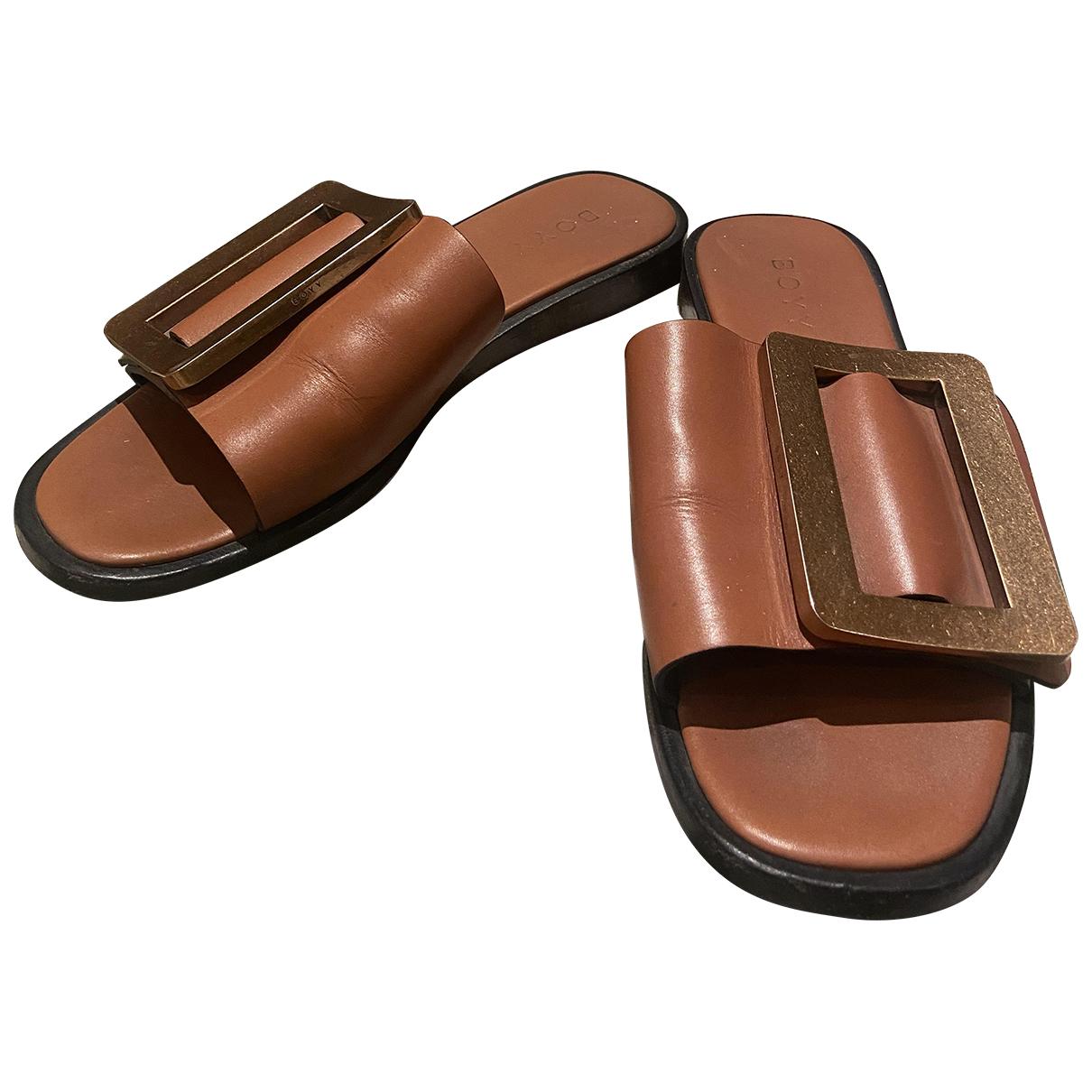 Boyy \N Camel Leather Sandals for Women 37 EU