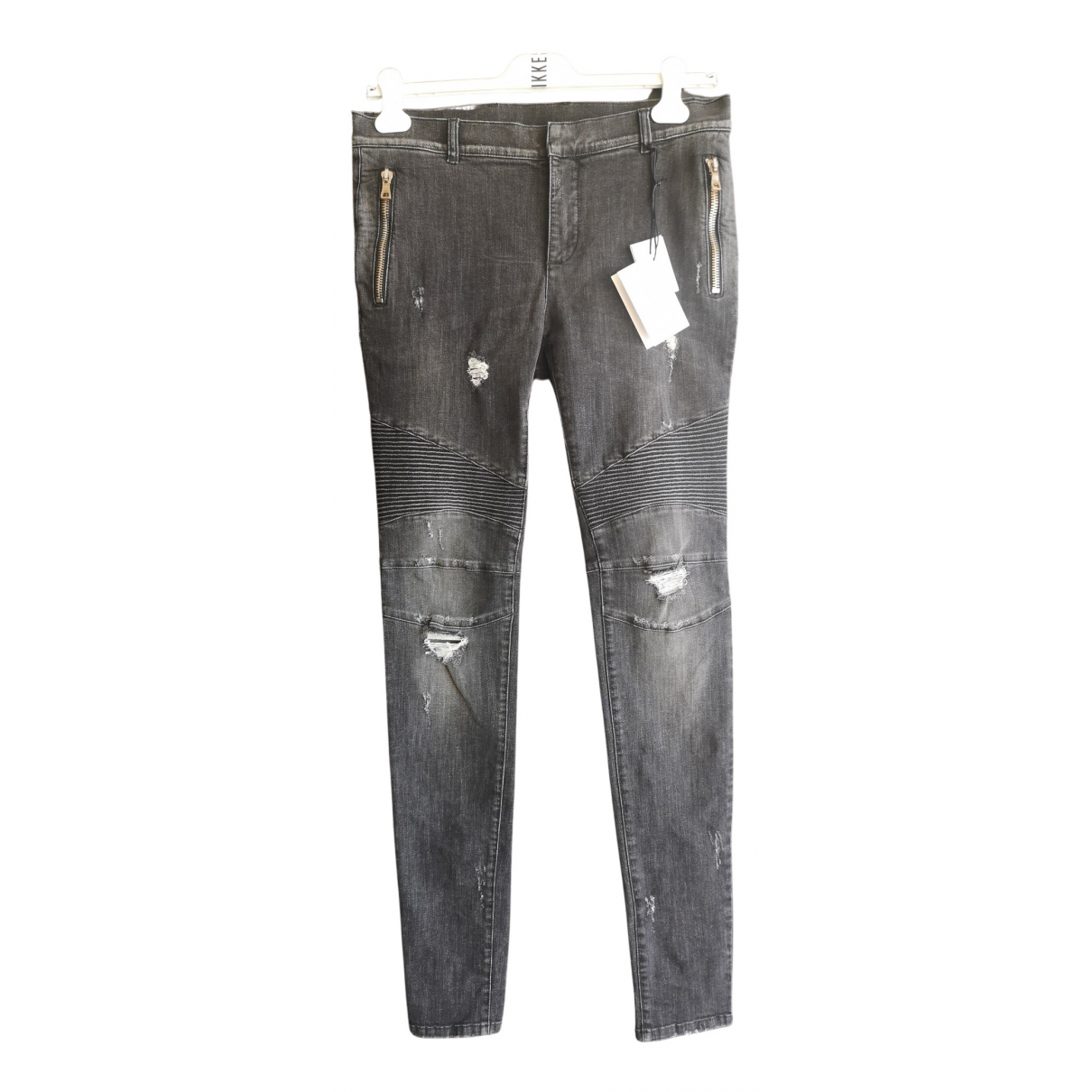 Balmain N Black Cotton Jeans for Men 33 US