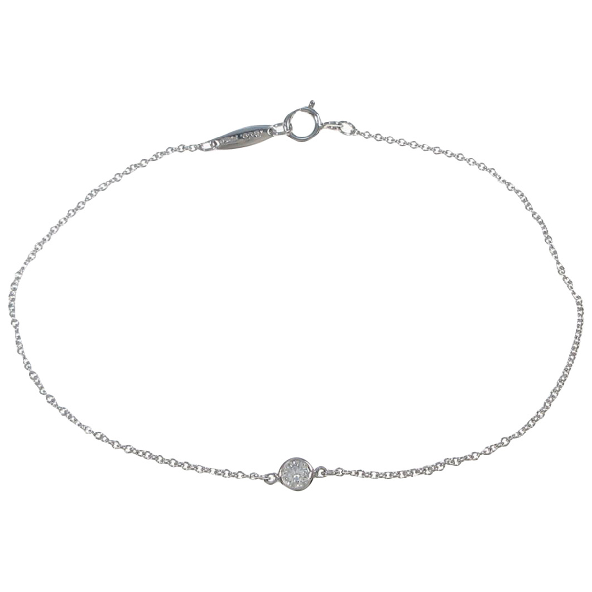 Tiffany & Co - Bracelet   pour femme en or blanc - argente