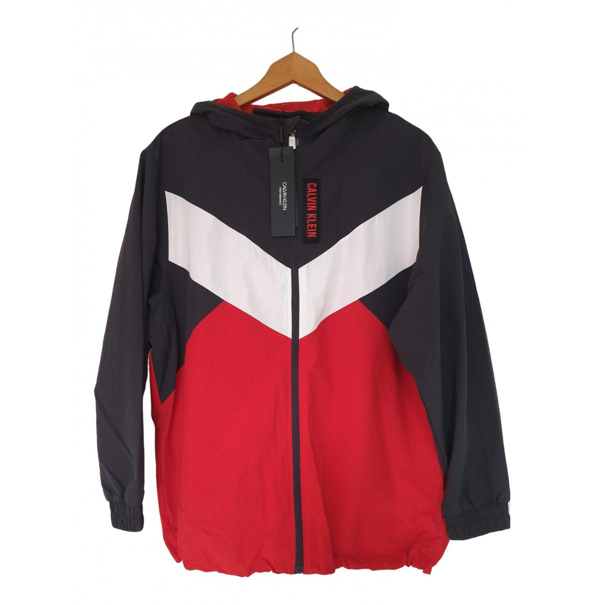Calvin Klein \N Jacke in  Rot Polyester