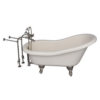 TKATS60-BBN2 Tub Kit 60 AC Slipper  Tub Filler  Supplies  Drain-Brush