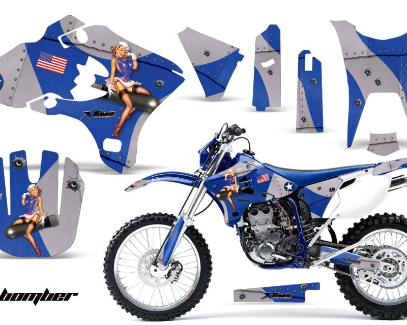 AMR Racing Dirt Bike Graphics Kit Decal Wrap For Yamaha WR250F WR450F 2003-2004áTBOMBER BLUE