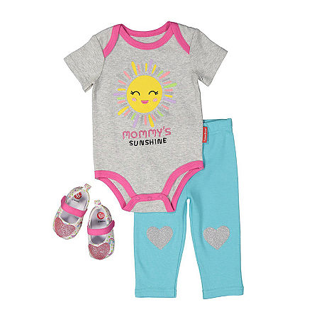Fisher-Price Baby Girls 2-pc. Pant Set, 3-6 Months , Gray