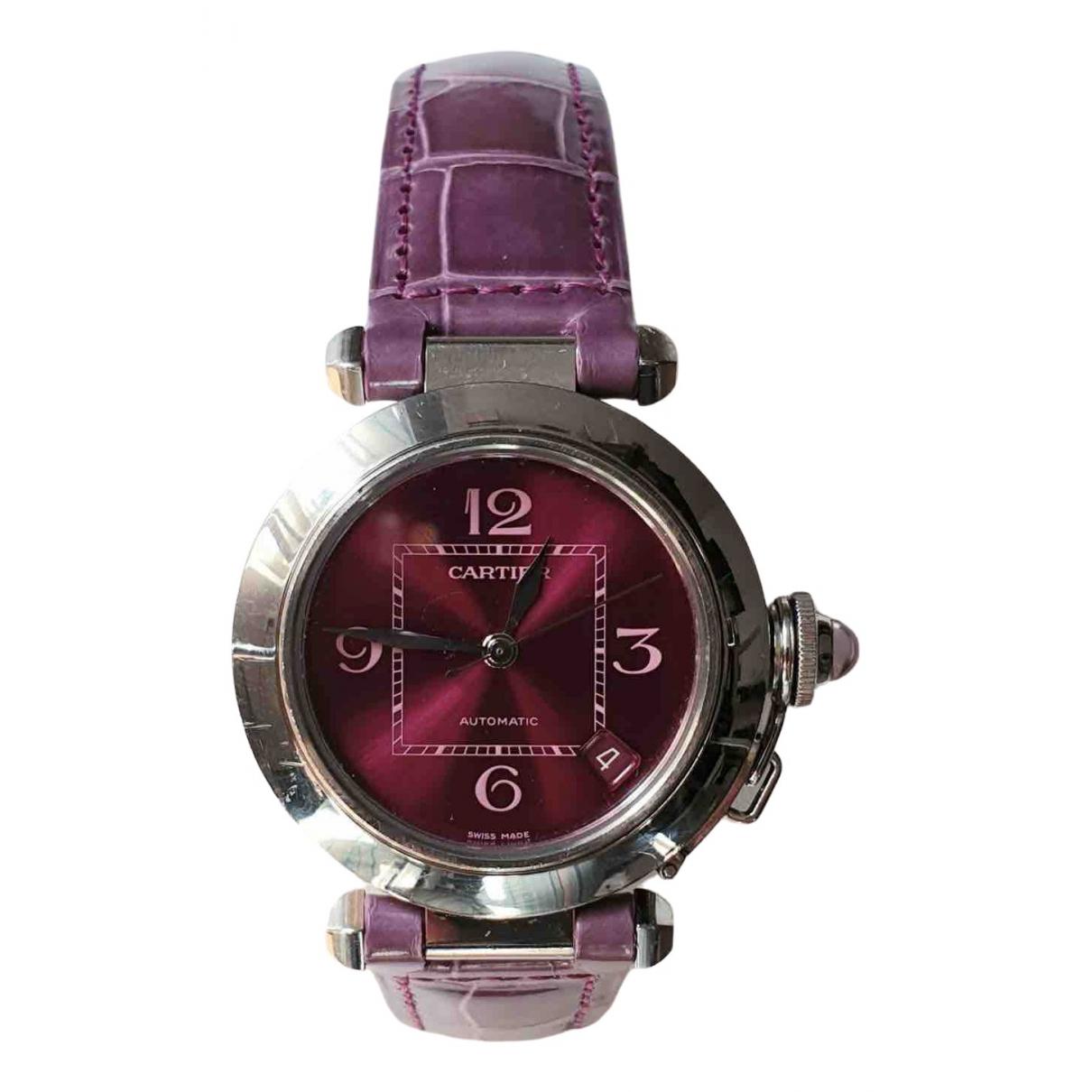 Cartier Pasha Purple Steel watch for Women \N