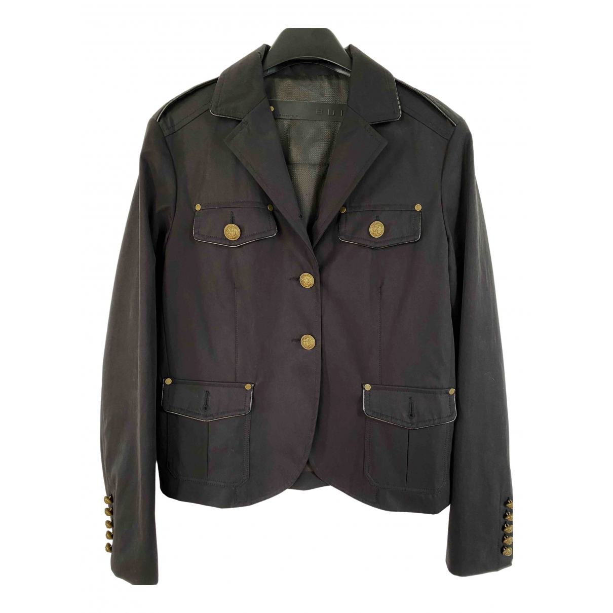Barbara Bui N Black Cotton jacket for Women 38 FR