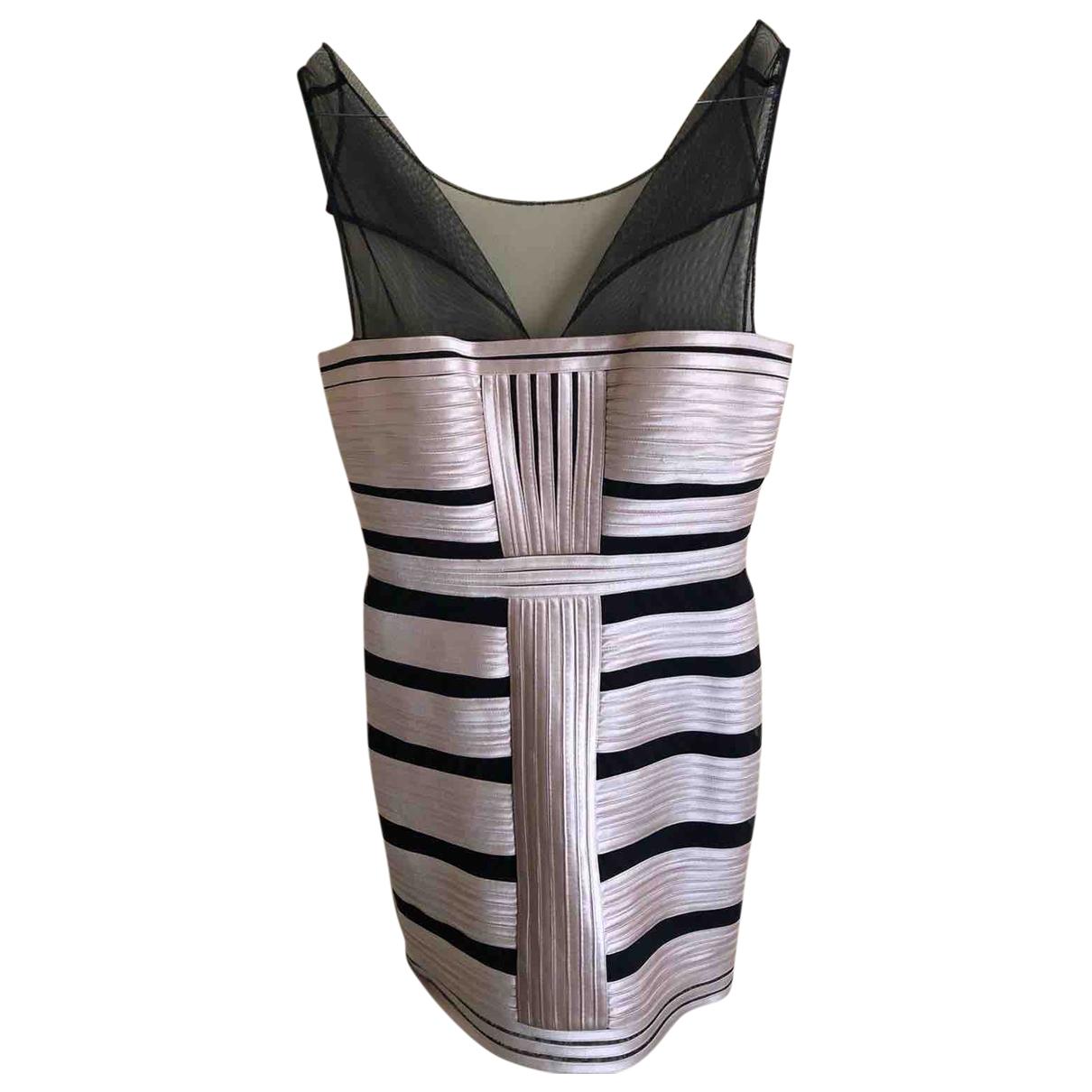 Bcbg Max Azria \N Kleid in  Beige Viskose