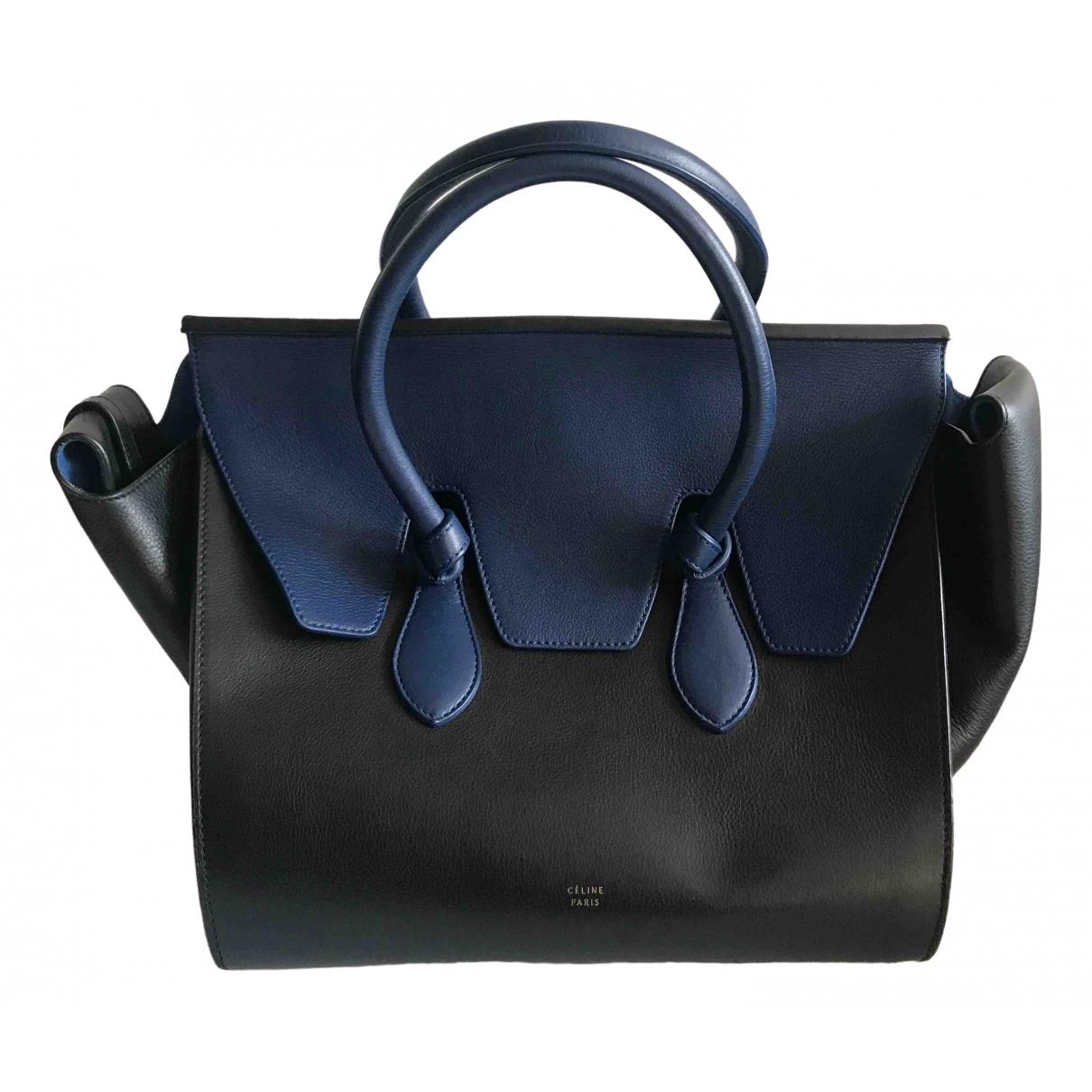Celine Tie Black Leather handbag for Women \N
