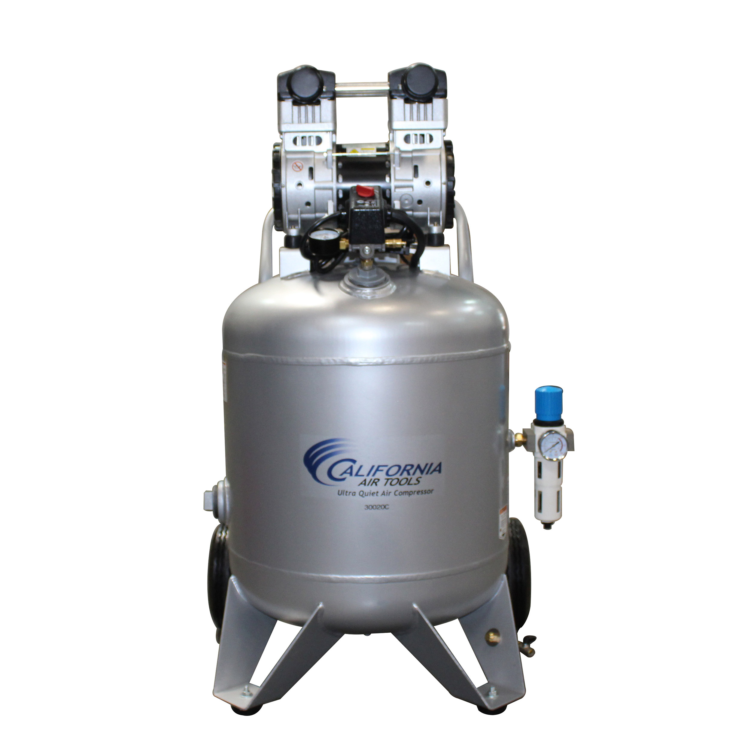 Steel Tank Air Compressor, 30020C, Ultra Quiet  & Oil-Free,  2.0 Hp, 30 gallon