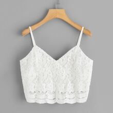 Zip Back Scallop Hem Cami Top