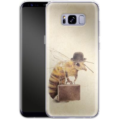 Samsung Galaxy S8 Plus Silikon Handyhuelle - Worker Bee von Eric Fan