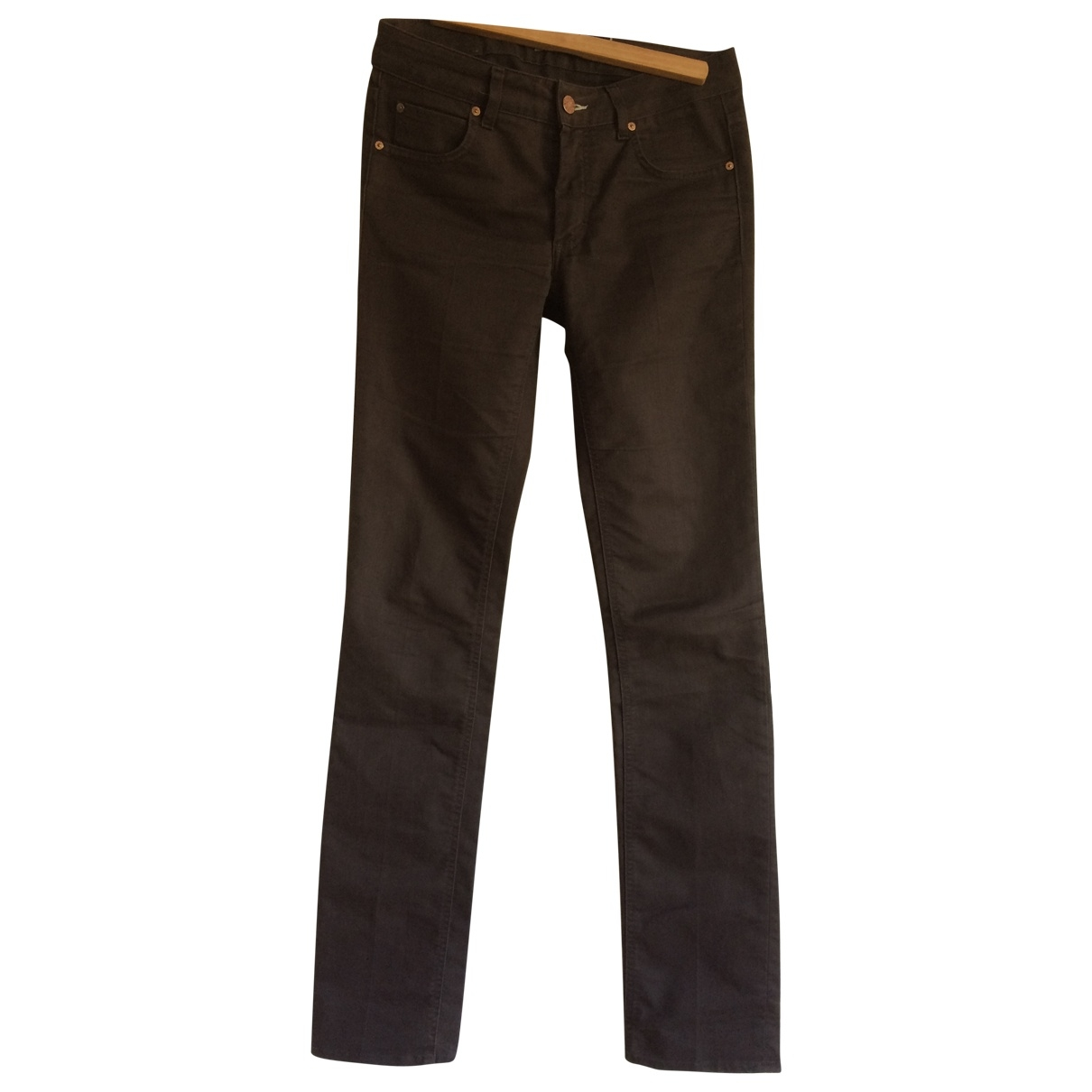 Acne Studios \N Brown Cotton Trousers for Women M International