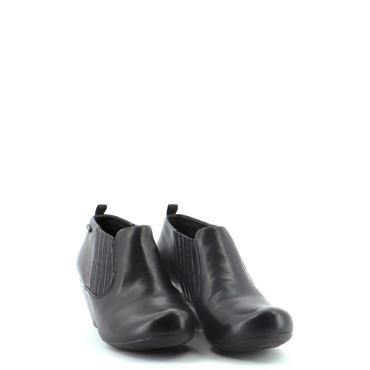 Clarks - Bottes   pour femme en cuir - noir