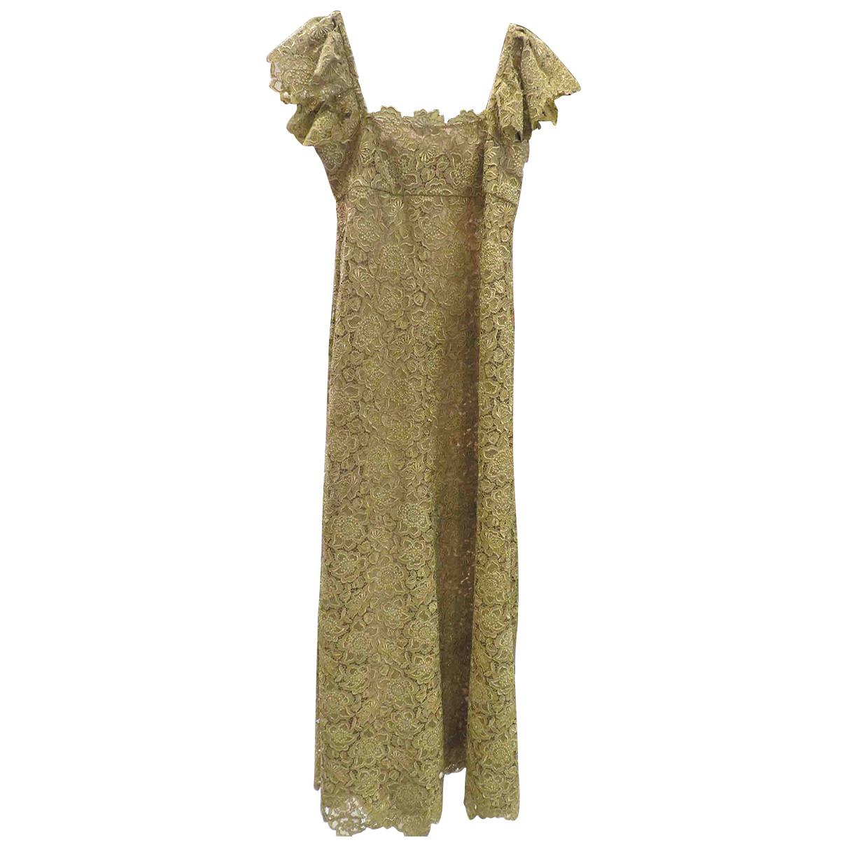 Valentino Garavani \N Kleid in  Gold Spitze