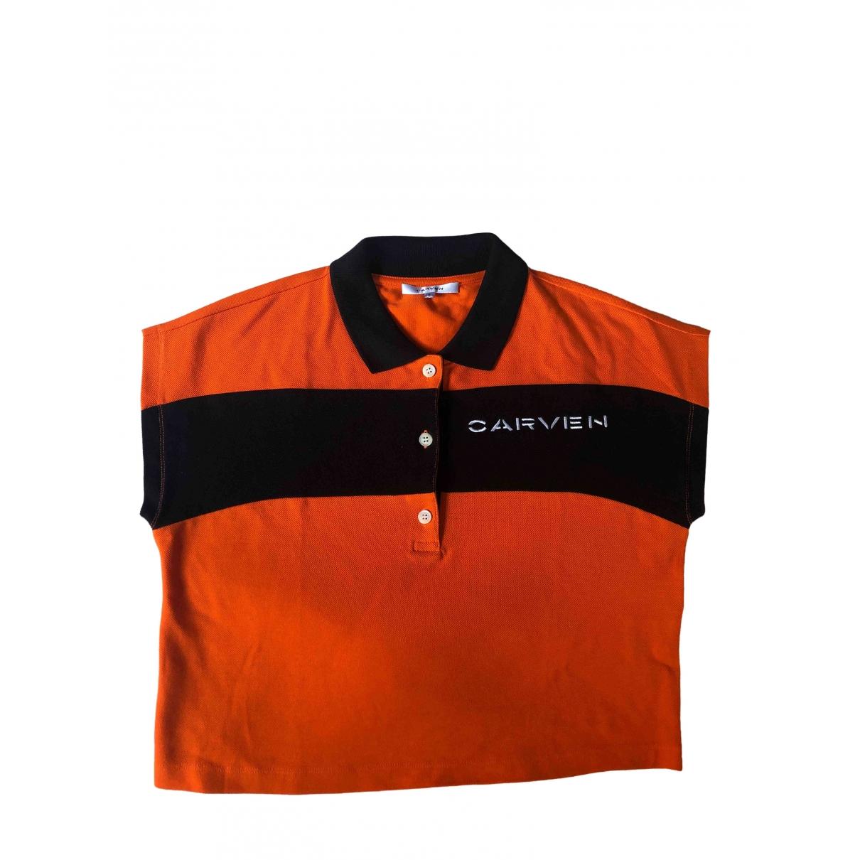 Carven - Top   pour femme en coton - orange