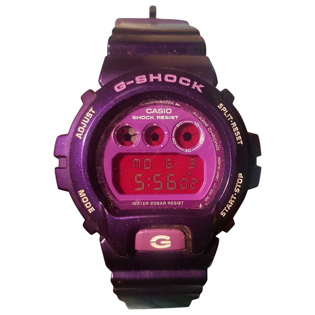 G-shock - Montre   pour homme en acier - violet