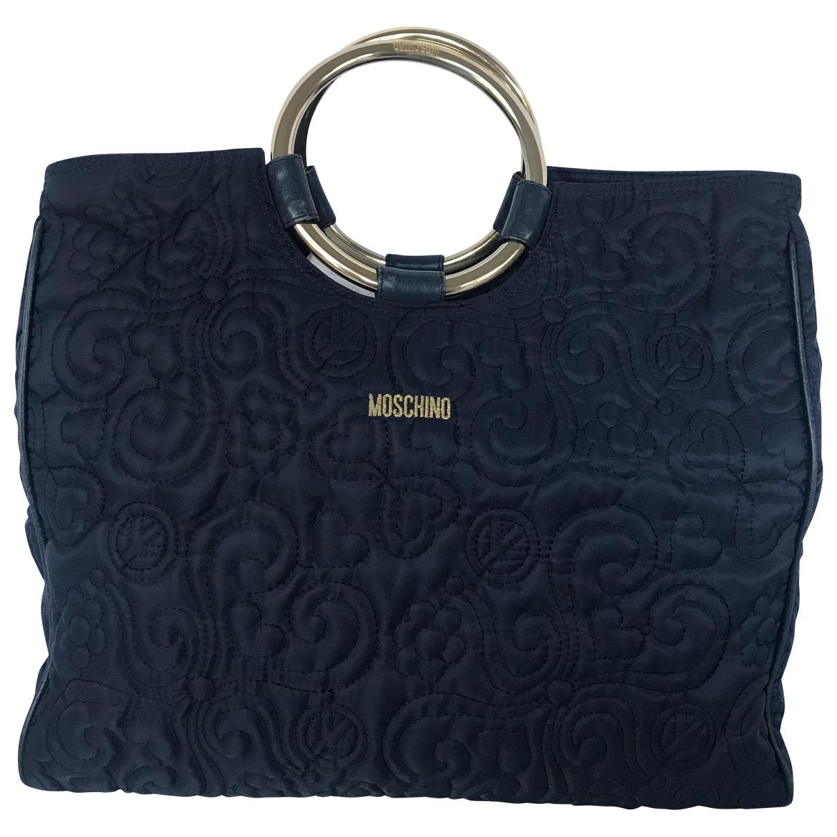 Moschino \N Handtasche in  Blau Leinen