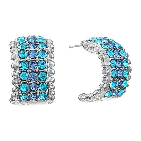 Monet Jewelry Hoop Earrings, One Size , Blue