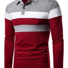 Polo Shirt mit Farbblock