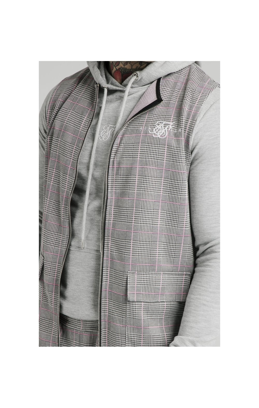 SikSilk Smart Wear Vest - Grey & Pink MEN SIZES TOP: Extra Large