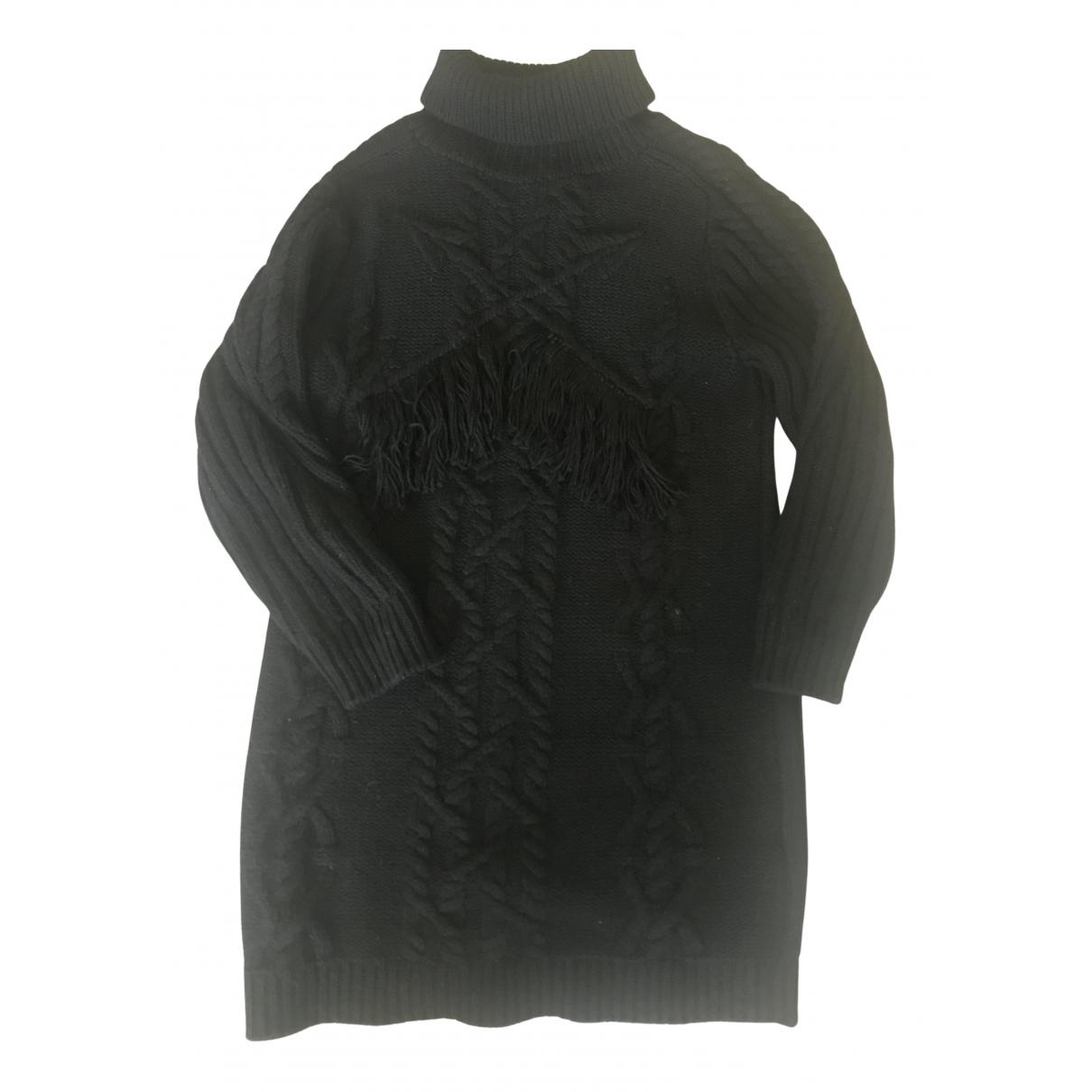 Claudie Pierlot - Robe   pour femme en laine - noir