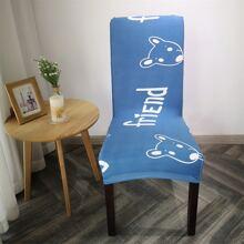 Funda de silla elastica con estampado de dibujos animados