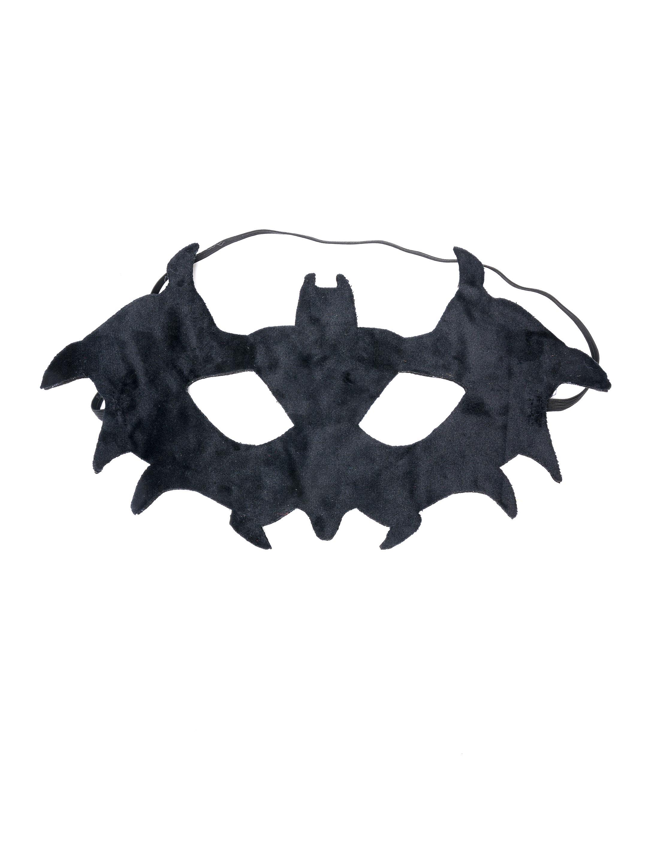 Kostuemzubehor Maske Fledermaus Stoff schwarz